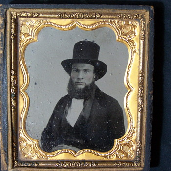 Bearded man ambrotype.