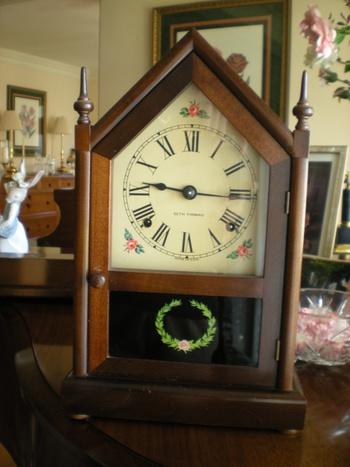 Antique Seth Thomas Mahagony Mantel Clock Collectors Weekly