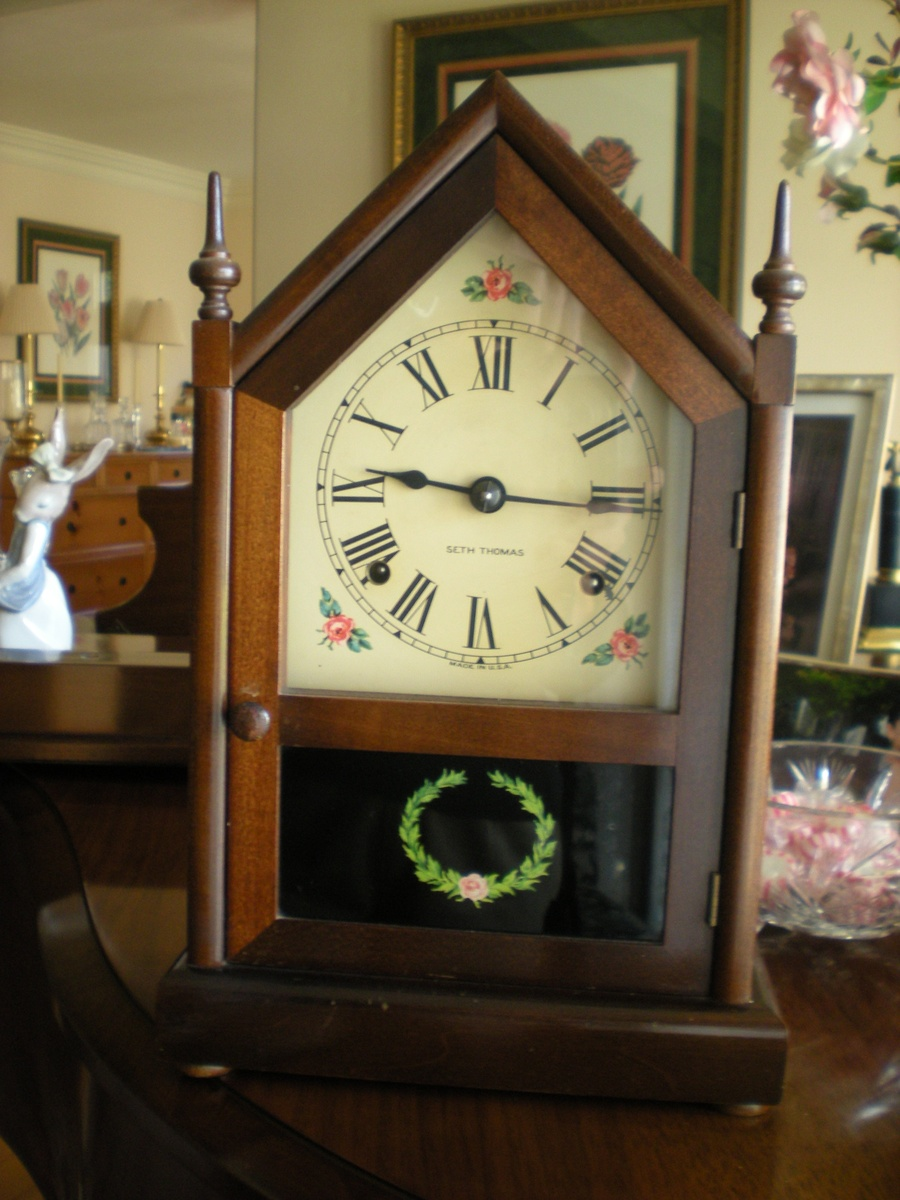 Antique Seth Thomas Mahagony Mantel Clock Collectors Weekly
