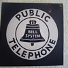 1940&#039;s Bell System Public Telephone Double Sided Porcelain Flange Sign Advertisement