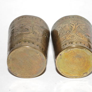More pics of my Grandgather's shell casings. - Folk Art