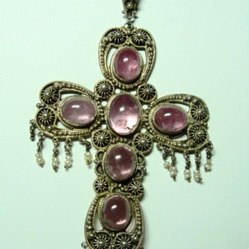 Large Antique Tourmaline Cross