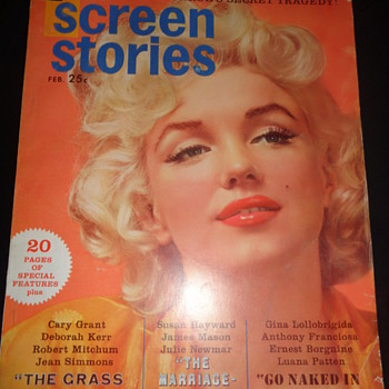 DELL : Screen Stories Feb. 1961 Marilyn Monroe