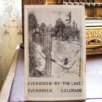 Black Americana Postcard...Evergreen-By-The-Lake...Early 1900's - Postcards