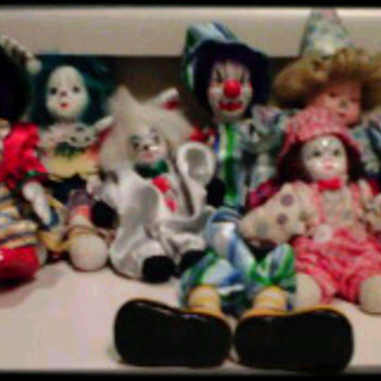 Porcelain Clowns - Dolls