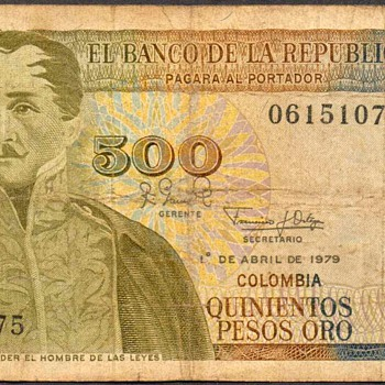 Colombia - (500) Pesos Oros Bank Note
