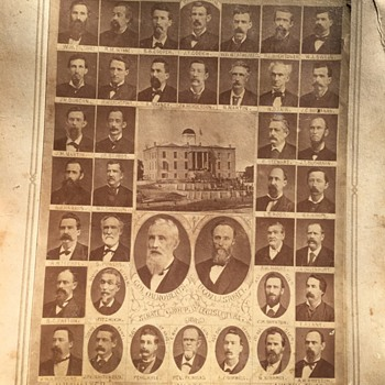 Vintage Composite Photo of 1881 TEXAS Senate 17th Legislator - Photographs