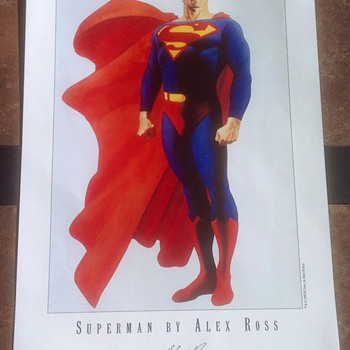 SUPERMAN PRINT BY ALEX ROSS - Comic Books