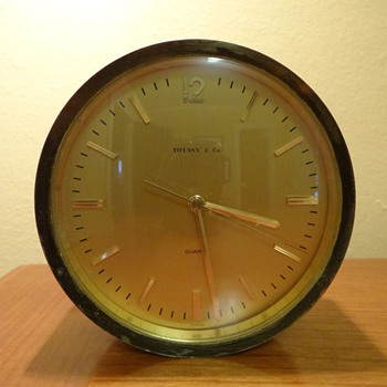 VINTAGE BRASS TIFFANY & CO.  CLOCK (1 CLOCK)
