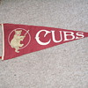 Old baseball pennants.