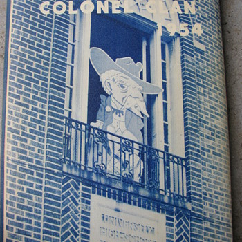 THE COLONEL 1954 HIGH SCHOOL ANNUAL -- OXFORD MISSISSIPPI - Books
