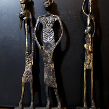 Five African Folk Art Figures - Folk Art