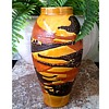 "Royal Haeger 11 "" Marigold and Agate ""Earth Wrap"" Vase /Circa 1976"