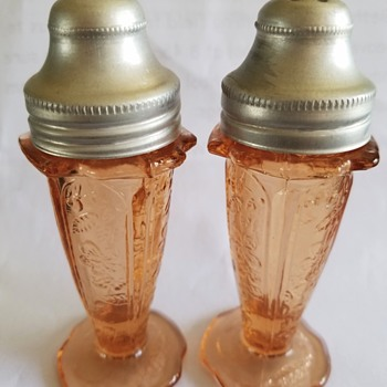Depression Glass Shakers - Glassware