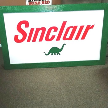 Handmade Sinclair Dino Sign