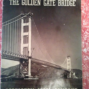 Golden Gate Bridge brochure  from 1937 - Paper