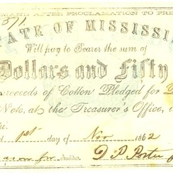 Confederate Money $3 bill and $2.50 bill - US Paper Money