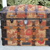 Late 1880's Carpet Covered Trunk Excellent Condition