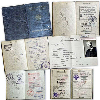 Passport of Germany's 1st President - Paper