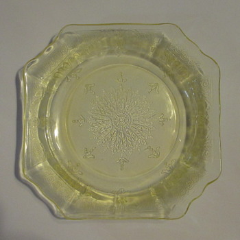 Hocking Glass 'Princess' c1931 plate - Glassware
