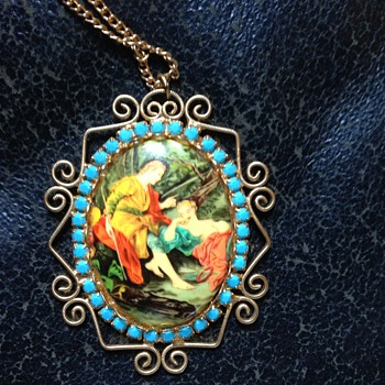a Picture Necklace - Costume Jewelry