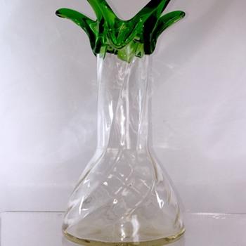 Rare Loetz Ausführung 57 Twisted Ribbed Vase, Series II, PN 5495, ca 1908