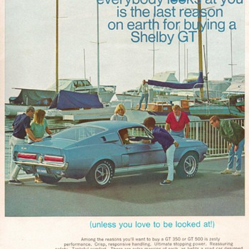 1967 Ford Mustang Shelby Advertisement - Advertising