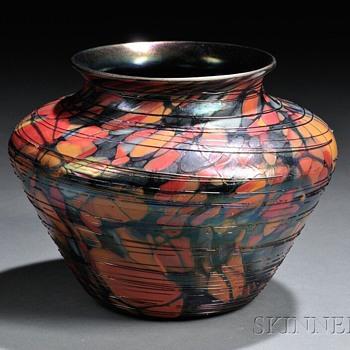 FENTON MOSAIC VASE 1925 - Glassware