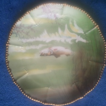 Limoges Fish Plate Set