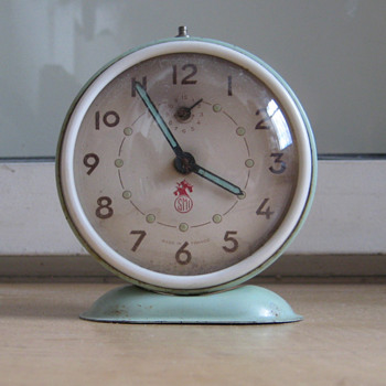 Antique French 1950's SMI alarm clock.