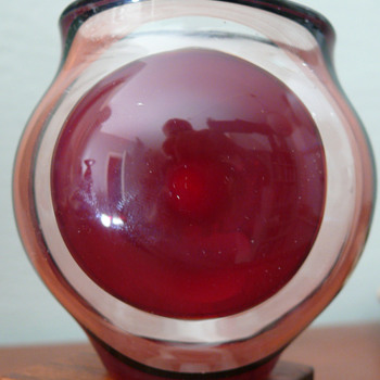 Lauscha art glass vase -- Hubert Koch