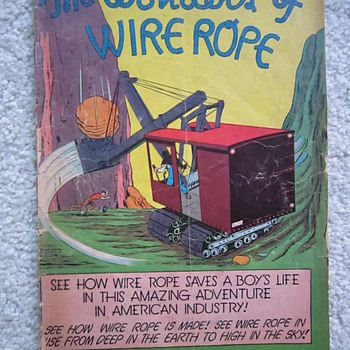 1940&#039;s The Wonders of Wire Rope EC Educational Comic Book