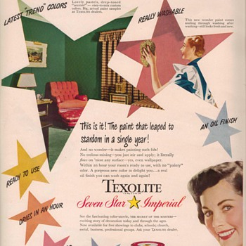 1950 Texolite Paint Advertisement - Advertising