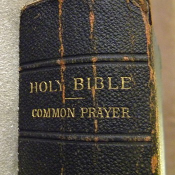 My Third Great Grand Uncle's Holy Bible/Book of Common Prayer
