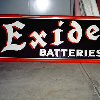 1941 EXIDE BATTERIES sign