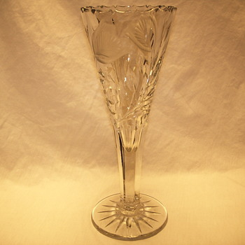 "Deep Cut Glass Vase""late XIX Century"