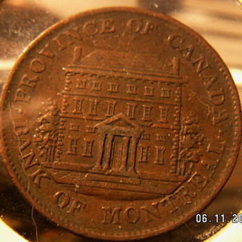 1844 Canada Half Penny  ~Bank of Montreal - World Coins