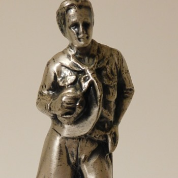 Boy Scouts of America Statuette w/'68 SPECIAL Affixed Plaque - Sporting Goods