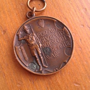 Vintage 1918 Boy Scouts Of America Rare Medal - Outdoor Sports
