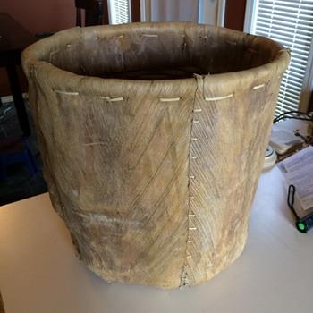 Large Tree Bark Basket - Native American