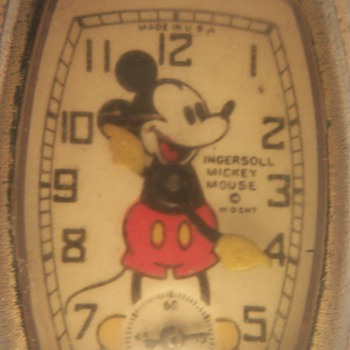 1939 Gold Plated Mickey Mouse Watch - Wristwatches