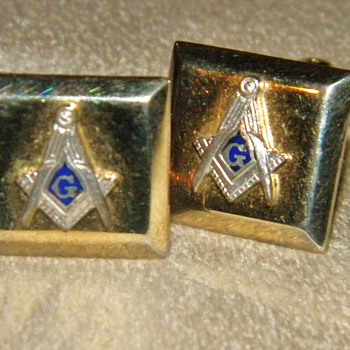 Freemason Cufflinks ca.1920's