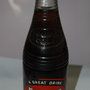 Vintage Double Cola Bottle, Still Full - Bottles