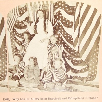 Patriotic Stereoview from Spanish American War