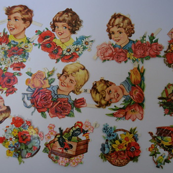 Vintage Germany Embossed Die Cuts. - Victorian Era