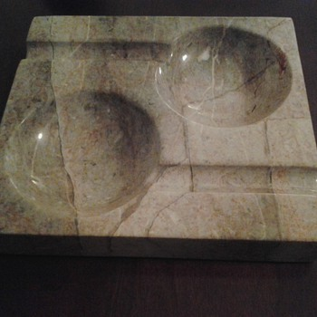 heavy marble ashtray
