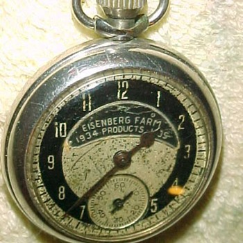 1934-35 Eisenberg Farm Products Advertisment Pocket Watch - Advertising