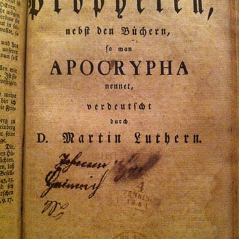 1803 German Bible Dr. Martin Luther