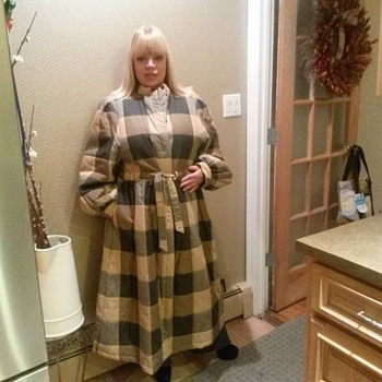 VINTAGE VALENTINO LONG PLAID COAT
