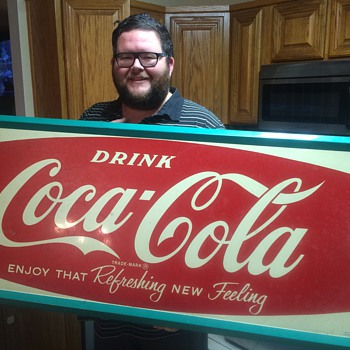 Coca Cola tin sign 1962